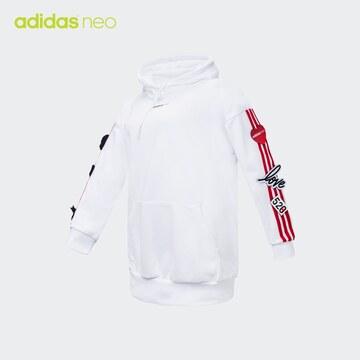 Adidas 阿迪达斯 neo 卫衣女子长袖外套连帽套头衫 EI4443