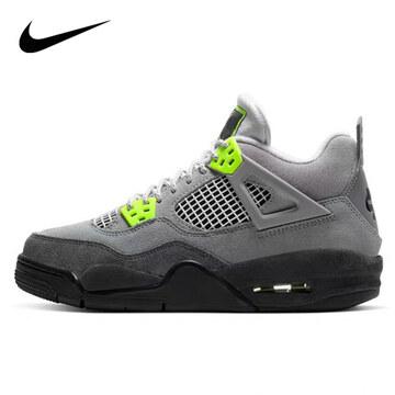 Nike20春AIR JORDAN 4 RETRO灰绿麂皮男篮球鞋CT5342007