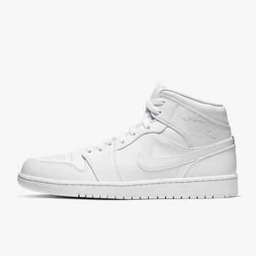 Nike20春AIR JORDAN 1 MID纯白中帮男篮球鞋554724126